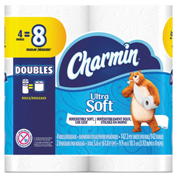 TOILET TISSUE 2-PLY CHARMIN ULTRA, 142 SHEETS PER ROLL 48