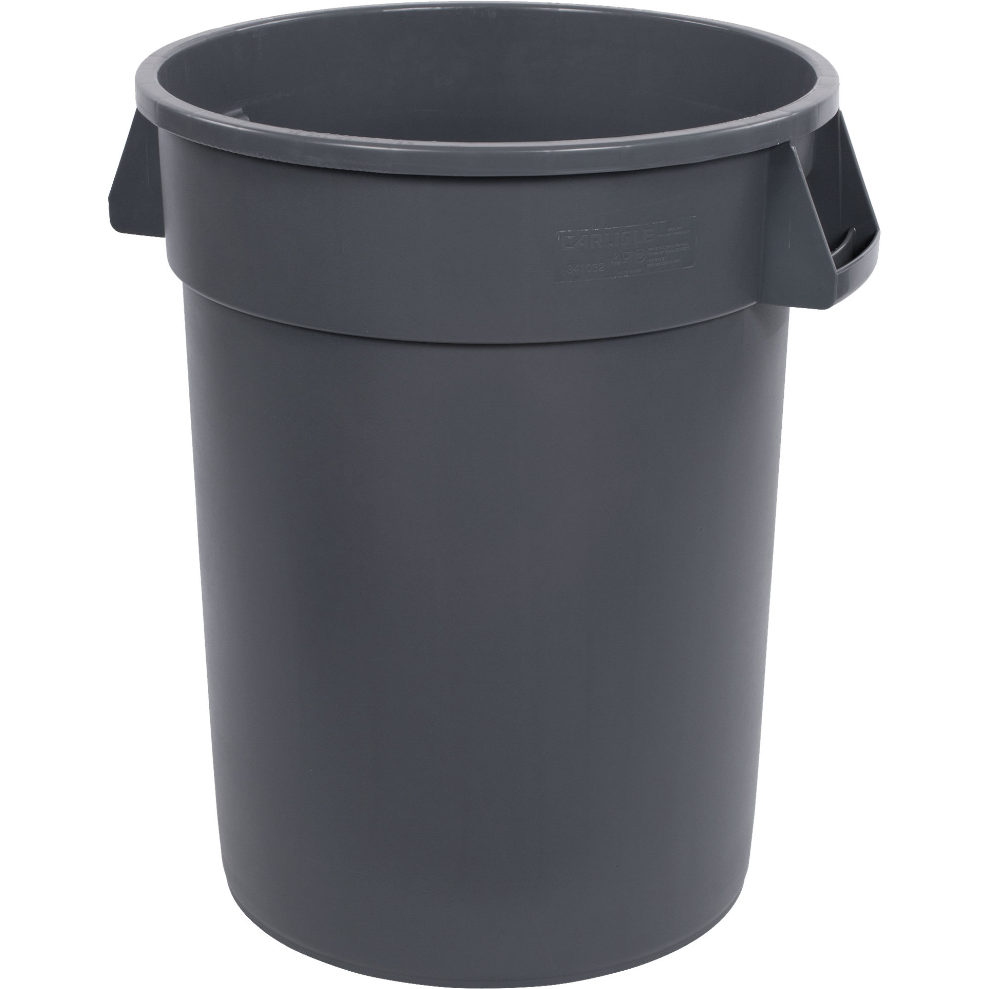 TRASH CAN 32 GALLON GRAY ROUND