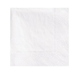 NAPKINS BEVERAGE 2 PLY 9.5 X 9.5 1/4 FOLD WHITE