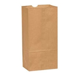 BAG PAPER 12# NATURAL 500 PER PACK (80959)