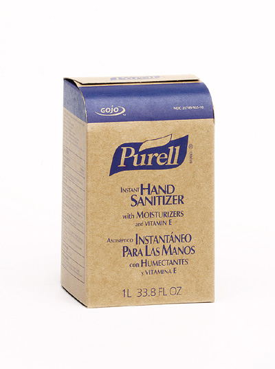 HAND SANITIZER PURELL E4 CLEAR 1000 ML 8 PER CASE