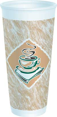 CUPS 24 OZ FOAM PRESSED  CAFE G DESIGN 500 PER CASE