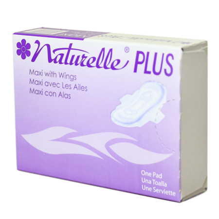SANITARY NAPKINS #4 NATURELLE MAXI PAD FOLDED 250 PER CASE