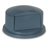 LID TRASH CAN 32 GALLON GRAY ROUND DOME TOP