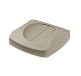 LID TRASH CAN BEIGE SQUARE FITS RCP-3568 AND RCP-3569