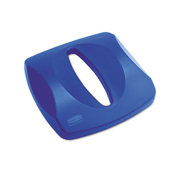 LID TRASH CAN BLUE SQUARE PAPER RECYLABLE FITS 3569