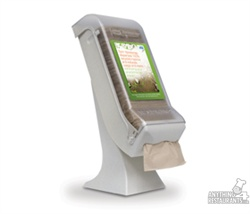 DISPENSER NAPKIN EXPRESS KNAP WITH STAND LITE GREY