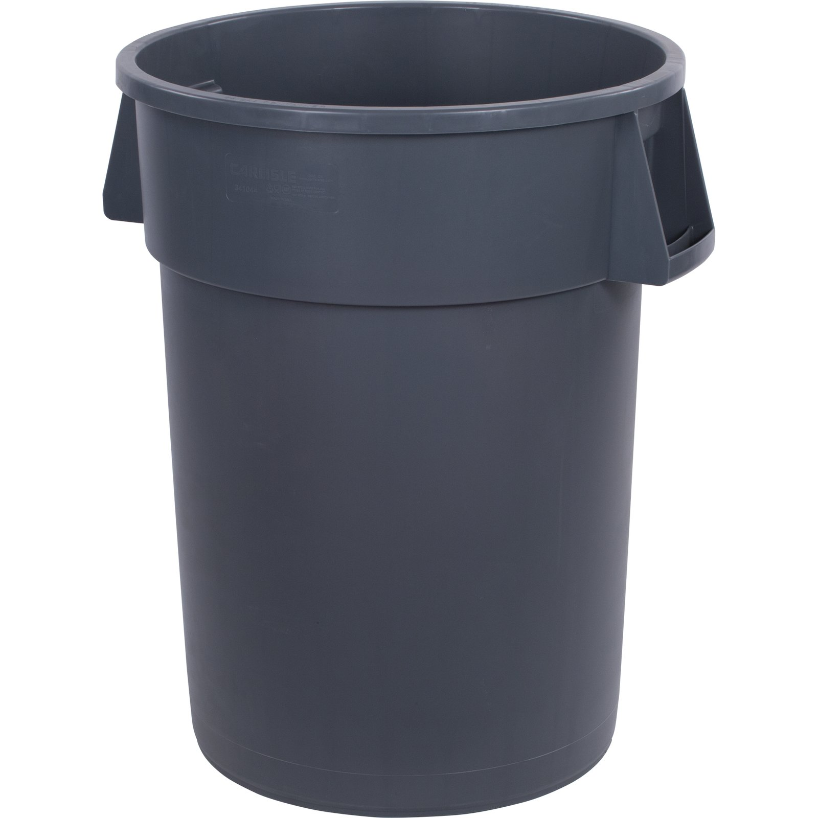 TRASH CAN 44 GALLON GREY ROUND