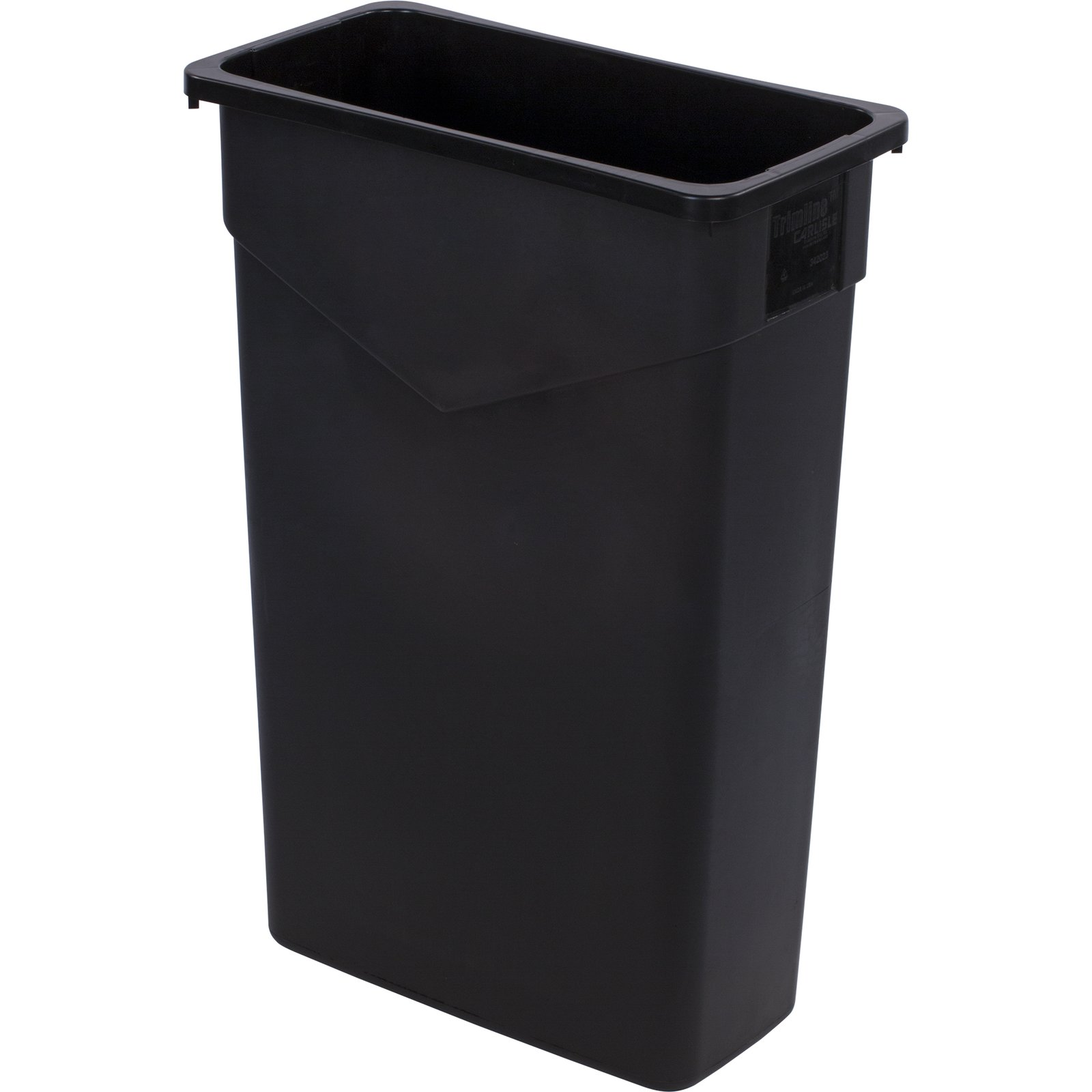 TRASH CAN 23 GALLON BLACK RECTANGLE TRIMLINE