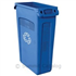 TRASH CAN 23 GALLON BLUE SLIM JIM