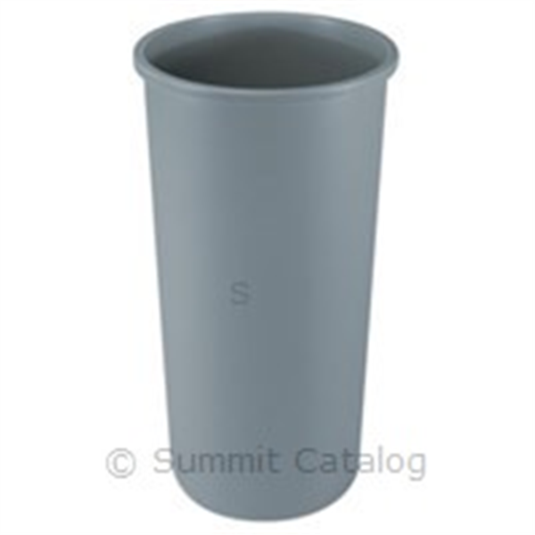 TRASH CAN GRAY ROUND 22-GAL USE 2672 3548 LID GRAY