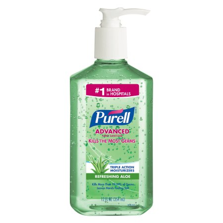 HAND SANITIZER PURELL INSTANT WITH ALOE 12 OZ PUMP BOTTLES