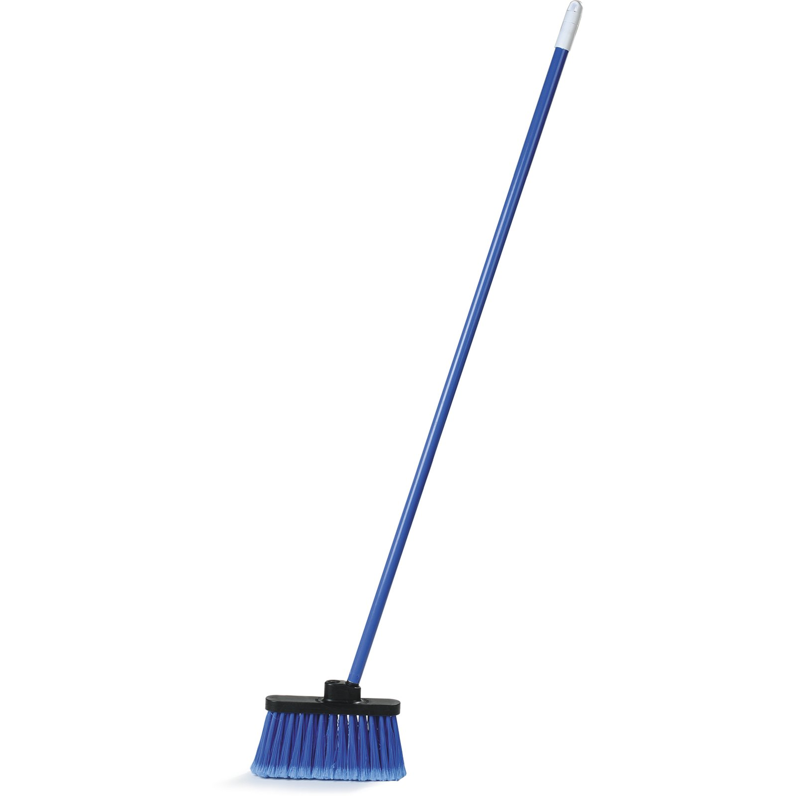"BROOM LOBBY 4"" BRISTLE BLUE WITH 48"" HANDLE"