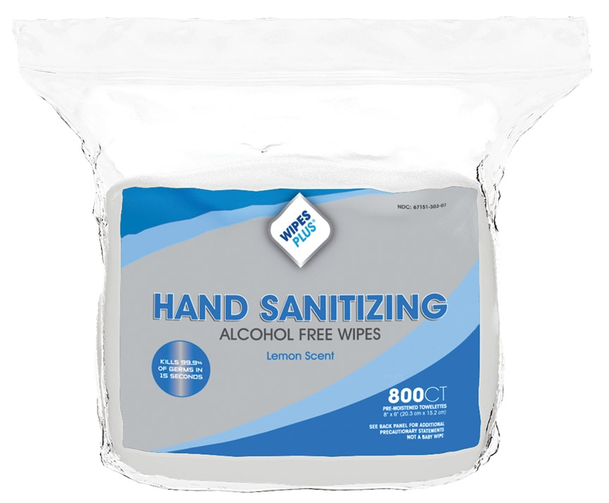 WIPES SANITIZING ALCOHOL FREE 800 COUNT 4 PER CASE