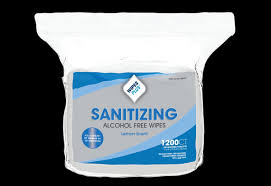 WIPES SANITIZING ALCOHOL FREE 1200 COUNT 4 PER CASE