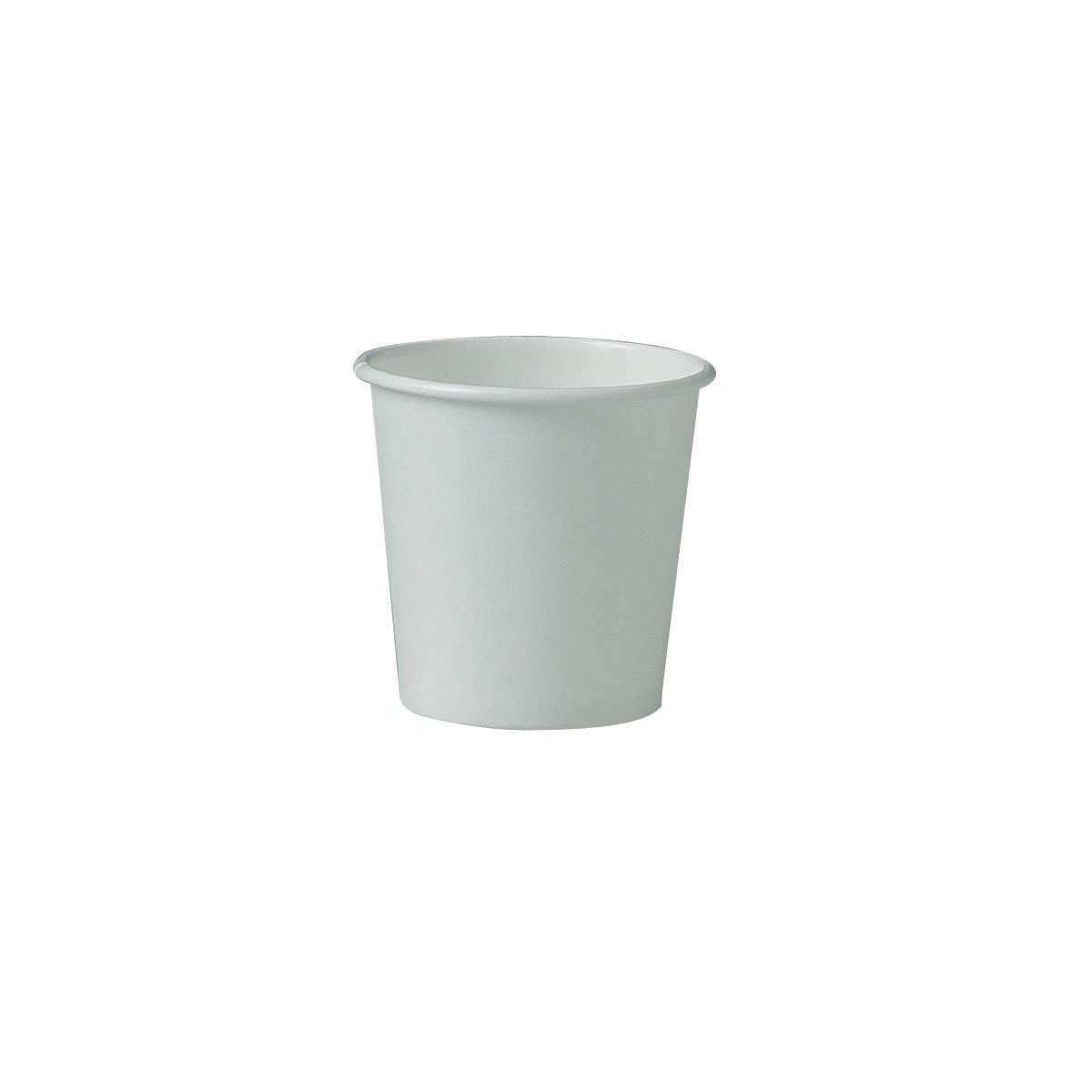 CUPS 4 OZ PAPER SOLO SINGLE SIDED POLY WHITE 1000 PER CASE
