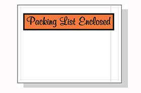 PACKING LIST ENCLOSED 4.5 X 6 1000 PER CASE