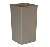 "TRASH CAN 50 GALLON SQUARE  UNTOUCHABLE GRAY 19-1/2"" W x"
