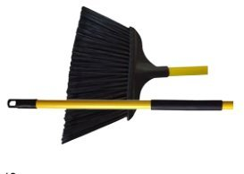 "BROOM 15"" ANGLE WITH 48"" HANDLE JUMBO FLAGGED"