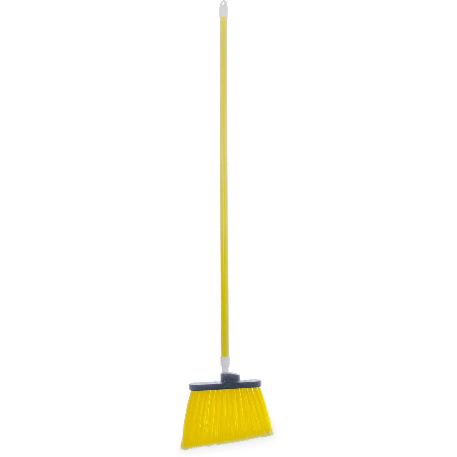 "BROOM 54"" FLAGGED ANGLE W/ POLYPROPYLENE BRISTLES YELLOW"