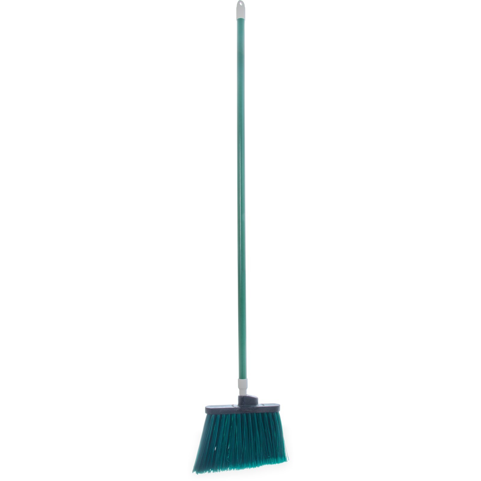 "BROOM 54"" FLAGGED ANGLE W/ POLYPROPYLENE BRISTLES GREEN"