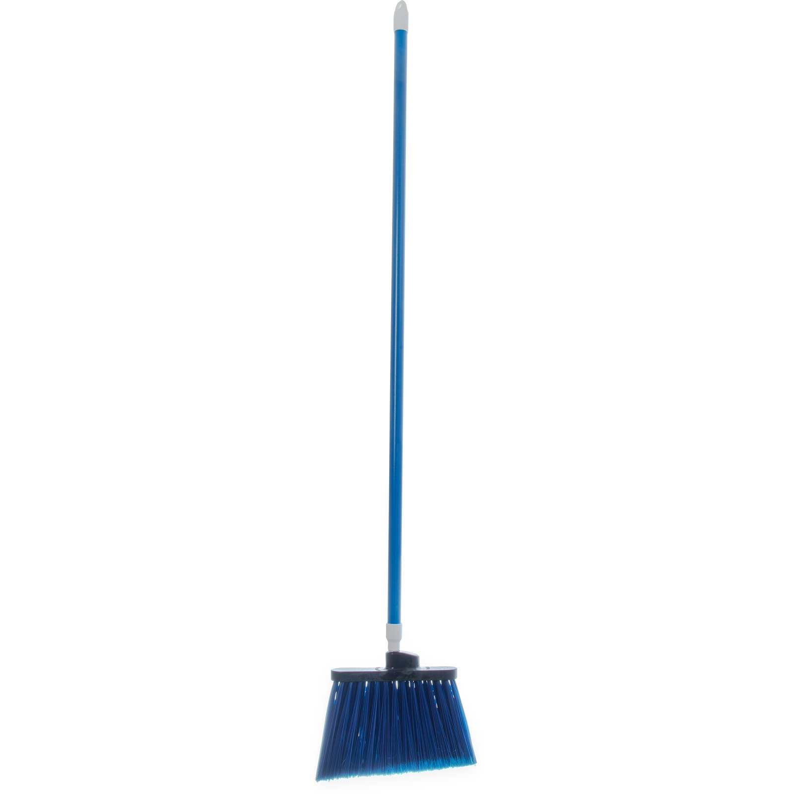 "BROOM 54"" FLAGGED ANGLE W/ POLYPROPYLENE BRISTLES BLUE"