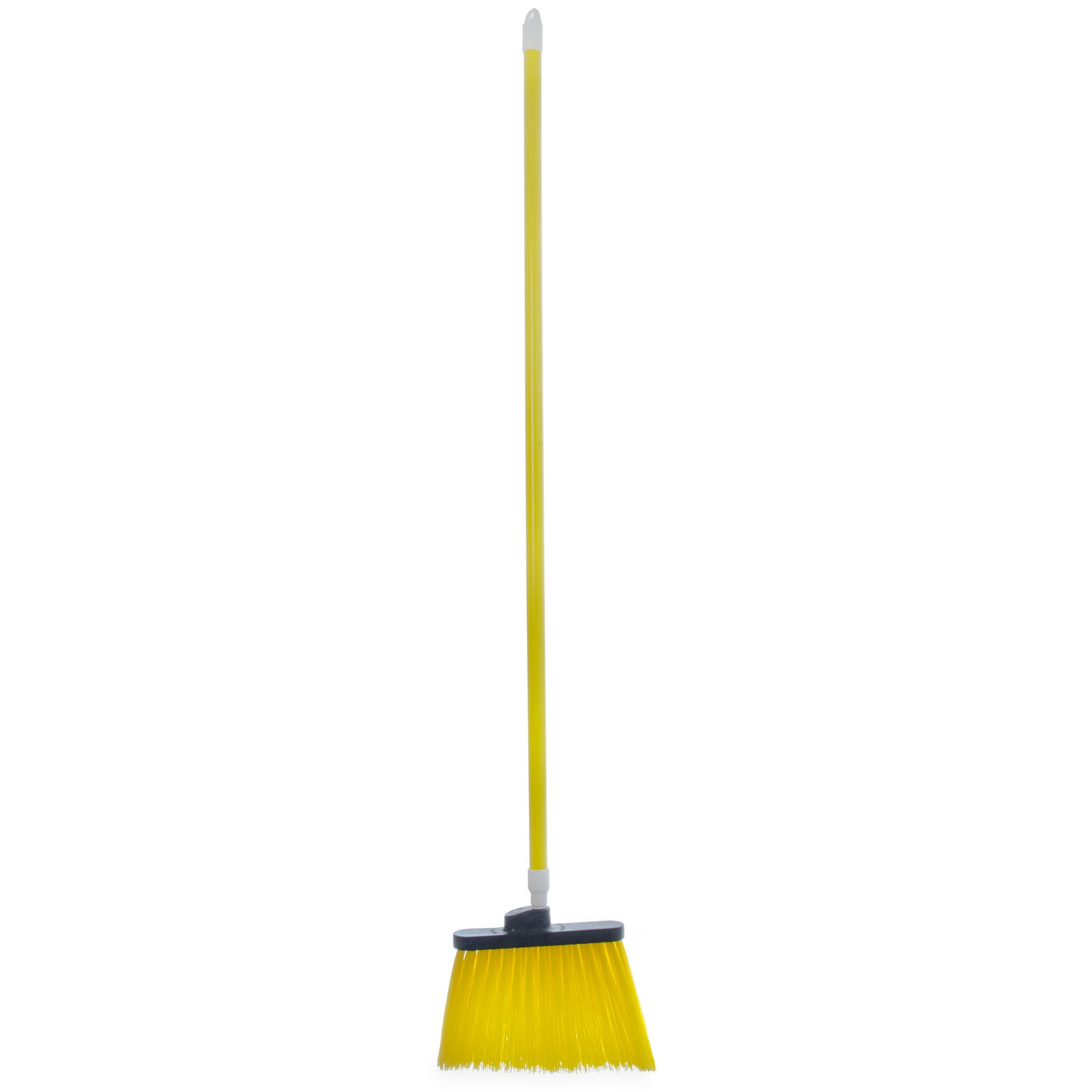 "BROOM 54"" UNFLAGGED ANGLE W/ POLYPROPYLENE BRISTLES YELLOW"