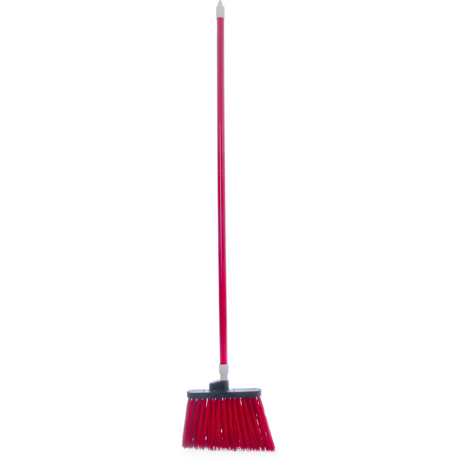 "BROOM 54"" UNFLAGGED ANGLE W/ POLYPROPYLENE BRISTLES RED"