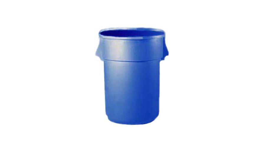 TRASH CAN 44 GALLON BLUE ROUND
