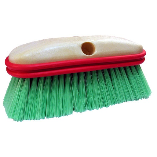 "BRUSH 10"" TRUCK STRAIGHT GREEN NYLON"