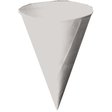 CUPS 4 OZ PAPER KONIE WHITE DRYWAX CONE CUP ROLLED RIM