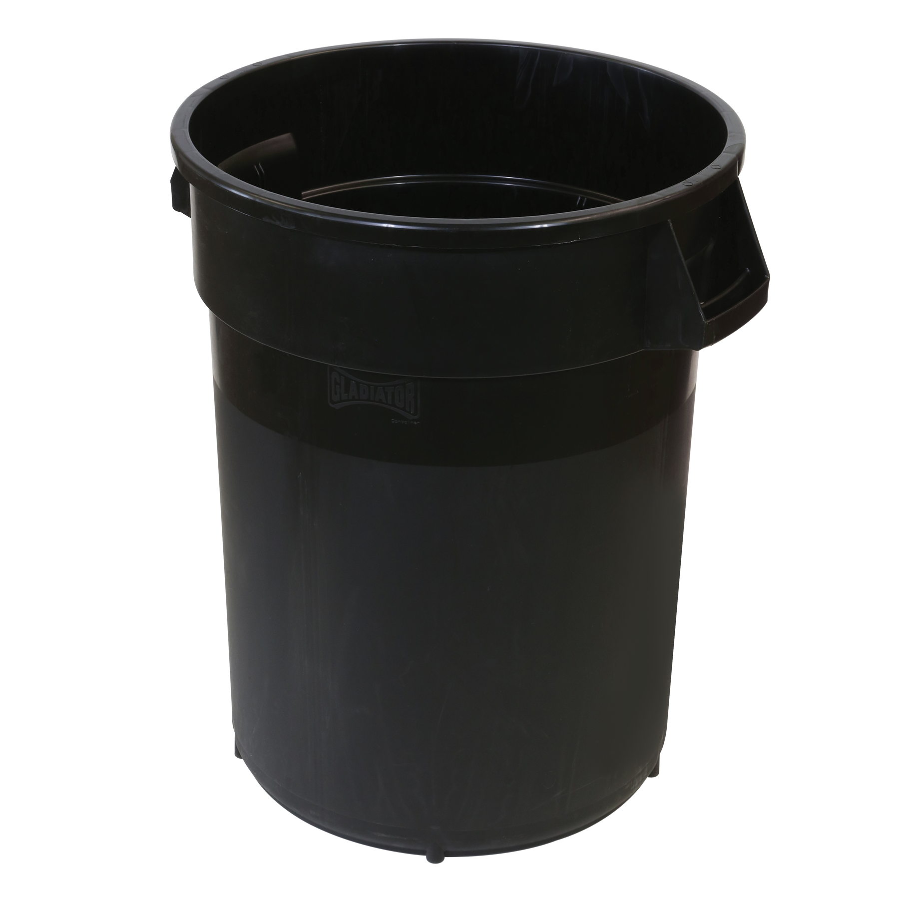 TRASH CAN 32 GALLON BLACK GLADIATOR