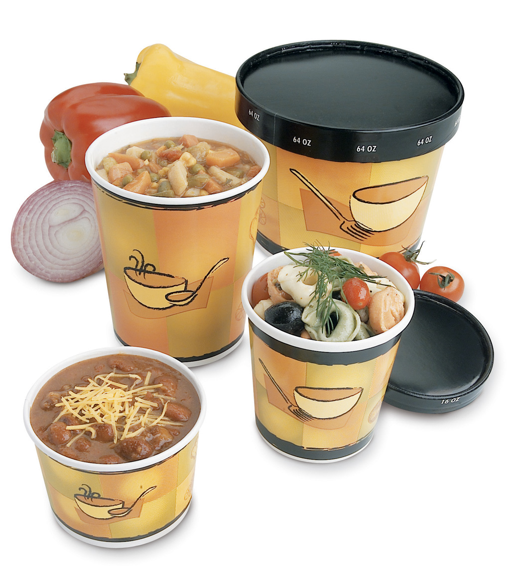 CONTAINER FOOD POLY COATED STREETSIDE PRNT 12 OZ 1000