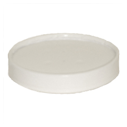 LIDS CONTAINER FOOD WHITE PAPER  16 SQUAT 32 OZ. 500