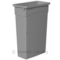 TRASH CAN 23 GALLON GRAY RECTANGLE WALL HUGGER
