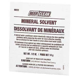 BEER CLEAN - MINERAL SOLV POUCH 100 PER CASE