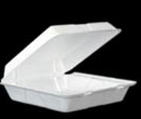 TO-GO 1 COMPARTMENT 9 3/8 X 9 X 3 FOAM HINGED WHITE 200