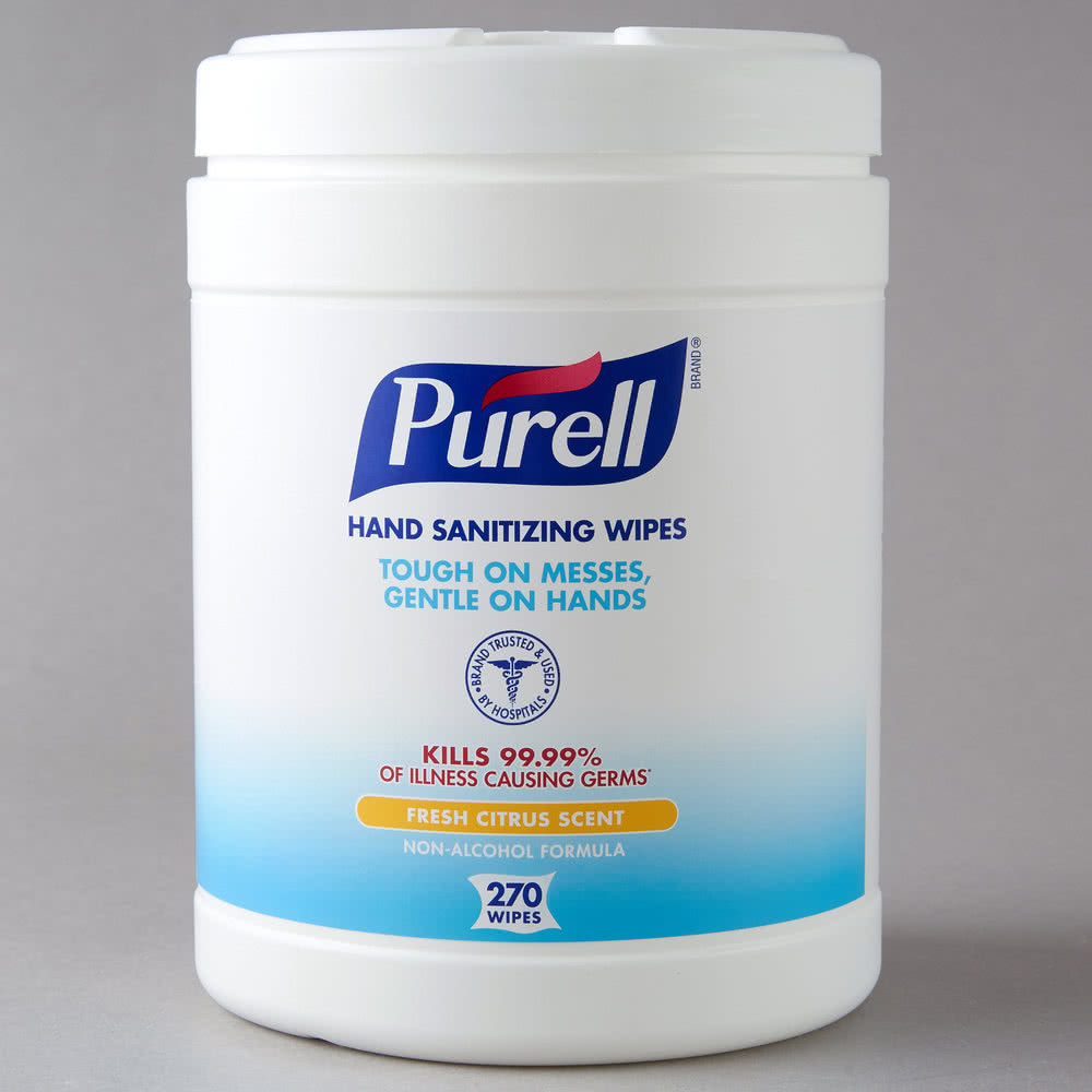 WIPES PURELL HAND SANITIZING 6 CANISTERS OF 270