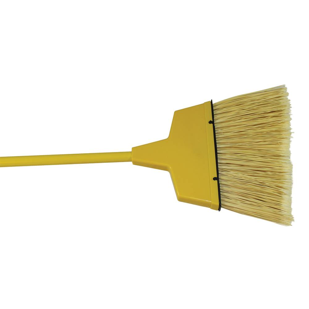 "BROOM ANGLED PLASTIC LARGE YELLOW 5.5"" TRIM X 8"" WIDE"