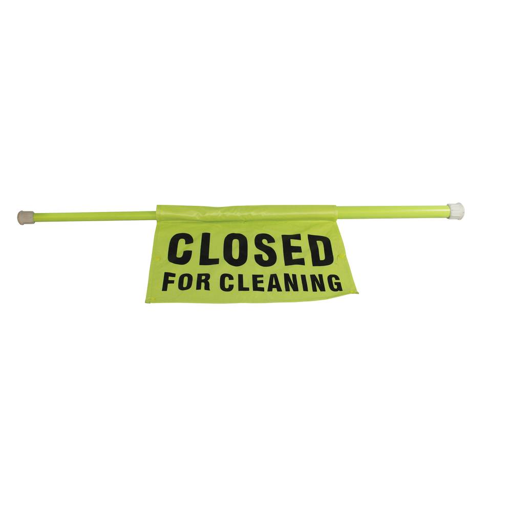 SIGN SAFTY POLE CLOSED FOR CLEANING
