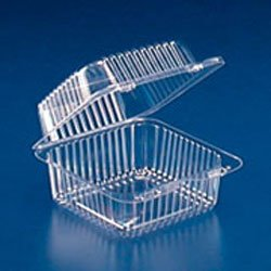 TO-GO 1 COMPARTMENT 8 X 8 HINGED 48 OZ CLEAR 250 PER