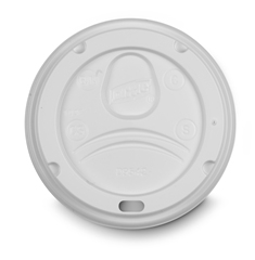 LIDS HOT DOME WHITE DIXIE  WITH SIP HOLE 12-16-20 OZ