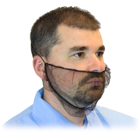 BEARD COVERS - POLYESTER MESH BROWN 1,000 PER CASE