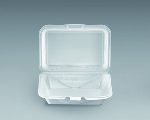 TO-GO 1 COMPARTMENT FOAM HINGED CONTAINER