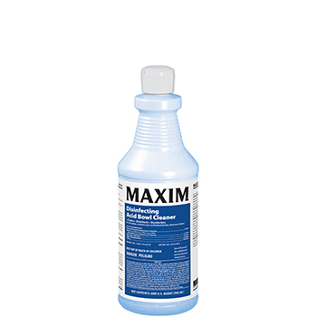 TOILET BOWL CLEANER HIGH ACID MAXIM 32 OZ BOTTLE (12 PER
