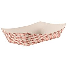 TRAYS 5# RED PLAID 500 PER CASE