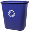 WASTEBASKET 28.5 QUART BLUE RECTANGLE WITH 'WE RECYCLE'