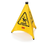 SIGN CAUTION SAFTY CONE POP-UP YELLOW