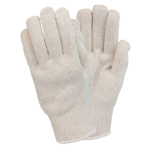 GLOVES STRING KNIT HEAVY WEIGHT COTTONM/POLY 1 DOZEN