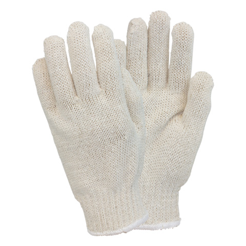 GLOVES MEDIUM WEIGHT COTTON POLY STRING KNIT 1 DOZEN